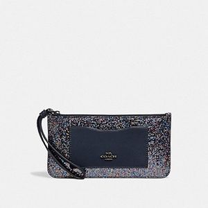 Coach Glitter Zip Top Wallet